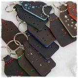 Constellation Custom Leather Keyrings
