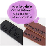 Engraved Leather Keychains - C2V