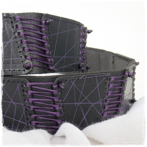Gothic Corset Black Leather Belt