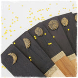 Engraved Moon Phases Wooden Bookmarks
