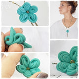 Turquoise Stone Flower Bohemian Necklace