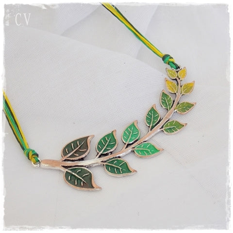 Leaf Statement Bib Necklace