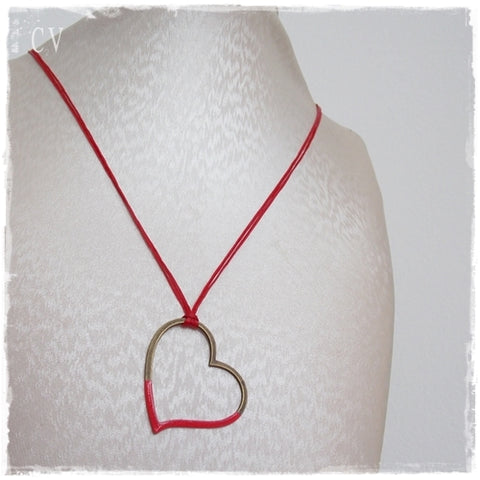 Red Heart Layering Necklace