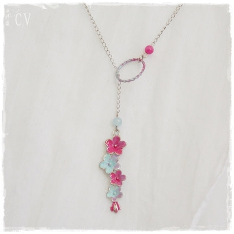 Floral Lariat Necklace