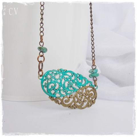 Filigree Turquoise Necklace