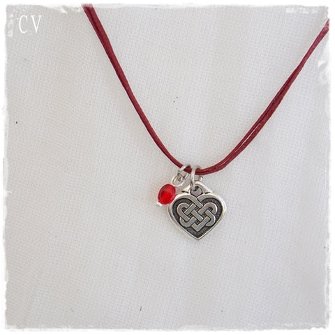 Celtic Heart Layering Pendant Necklace