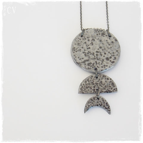 Moon Phases Statement Necklace*