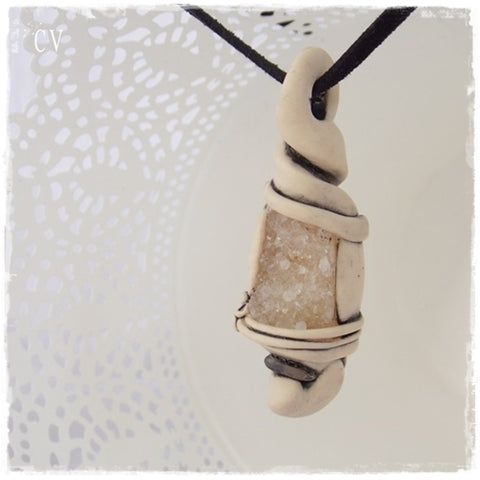 Meditation Quartz Crystal Pendant ~