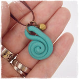 Mini Polymer Clay Spiral Necklace