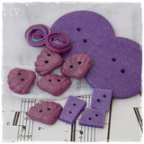 Polymer Clay Purple Buttons