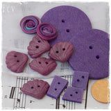 Handmade Purple Polymer Clay Buttons