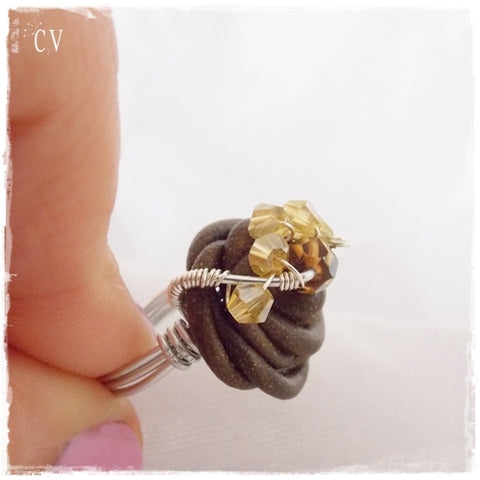 Wire Wrapped Statement Ring ~