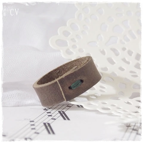 Rustic Brown Leather Ring