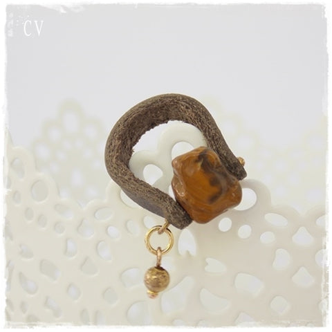 Tiger's Eye Chunky Stone Ring