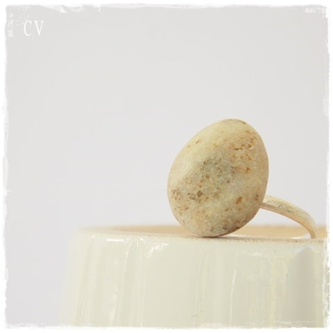 Nautical Pebble Ring ~