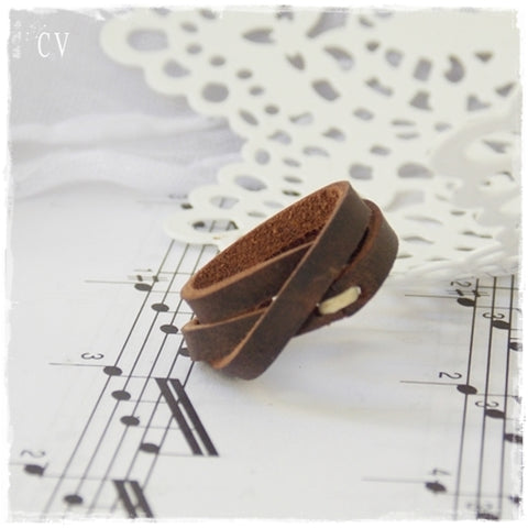 Triple Wrap Leather Ring