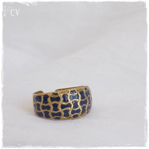 Nautical Dome Ring