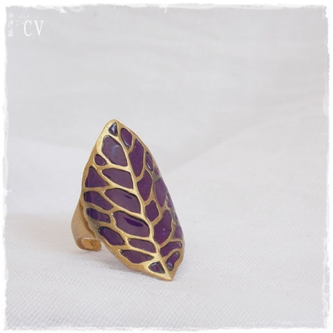 Statement Leaf Ring