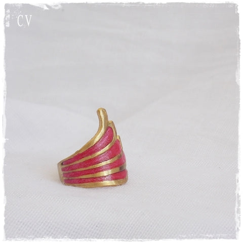 Tribal Bohemian Brass Ring ~