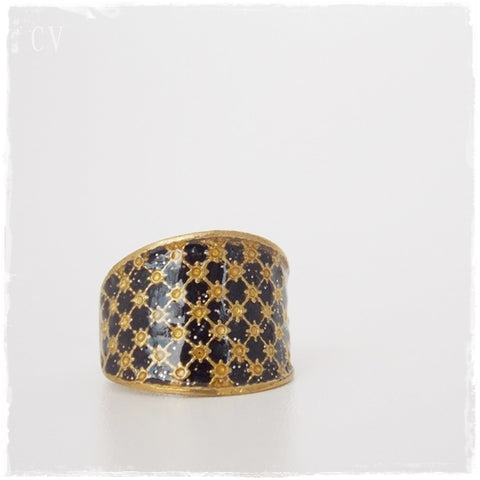 Vintage Brass Cage Ring