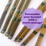 Secret Message Leather Bracelets