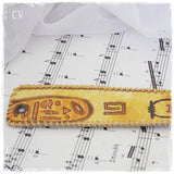 Decoupage Leather Cuff Bracelet Inspired By Egypt