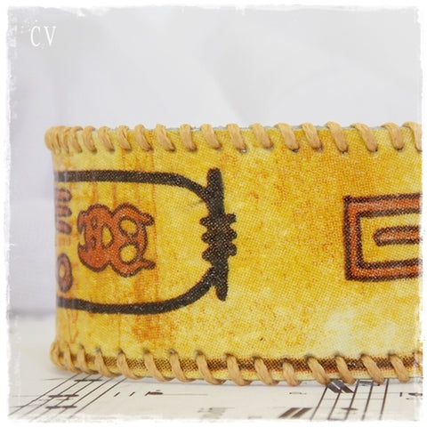 Egyptian Leather Cuff Bracelet