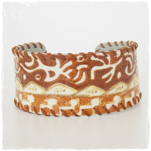 African Leather Wristband