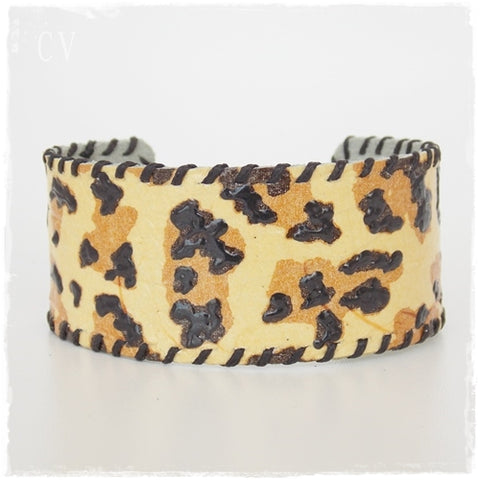Animal Print Leather Cuff Bracelet