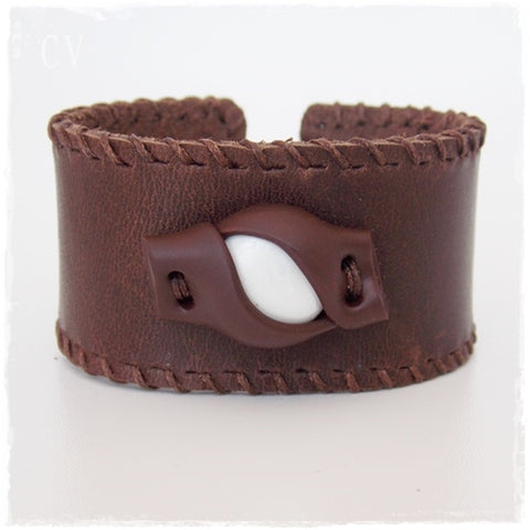 Woodland Leather Bracelet Cuff
