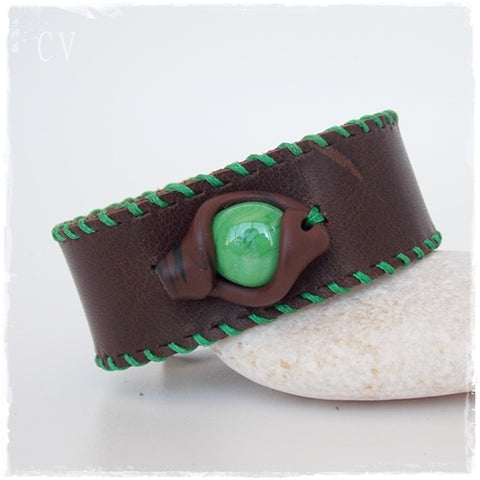 Cosplay Polymer Clay Leather Bracelet
