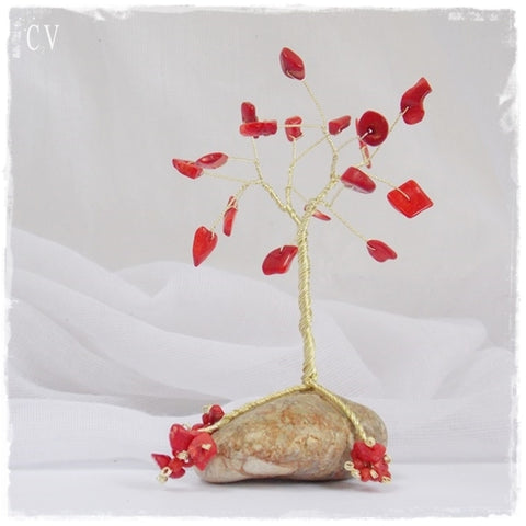 Coral Wire Tree Sculpture