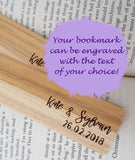 Engraved Wooden Bookmarks