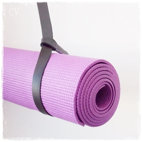 Leather Yoga Mat Strap ~