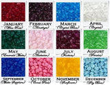 Birthstones - Color Chart - C2V- Made In Greece
