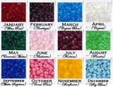 Birthstones - Color Chart - C2V - Handemade Designs