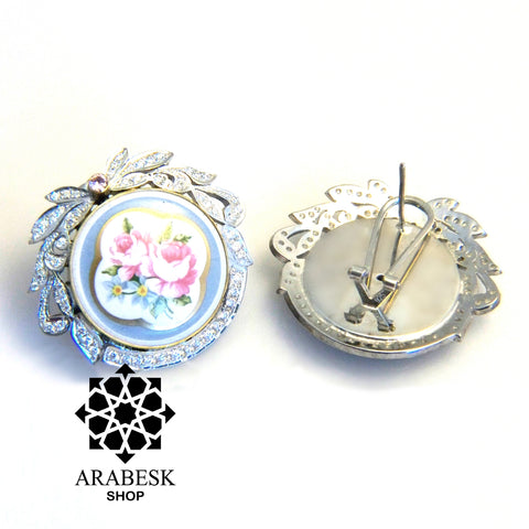 Marie Antoinette Porcelain Earrings