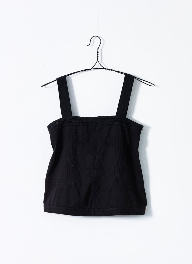 Black Embroidered Camisole
