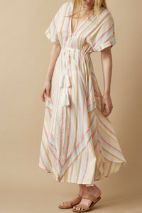 The Elle Dress Lurex Stripe