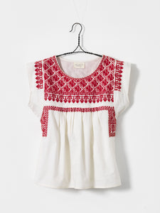Ecru embroidered blouse