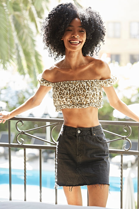 Roxy Leopard Crop Top
