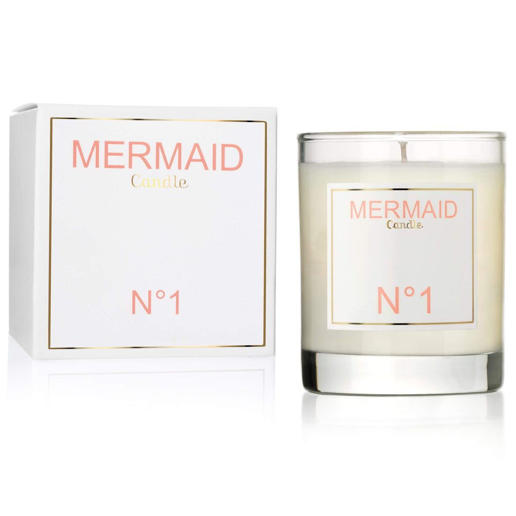 mermaid orange blossom candle
