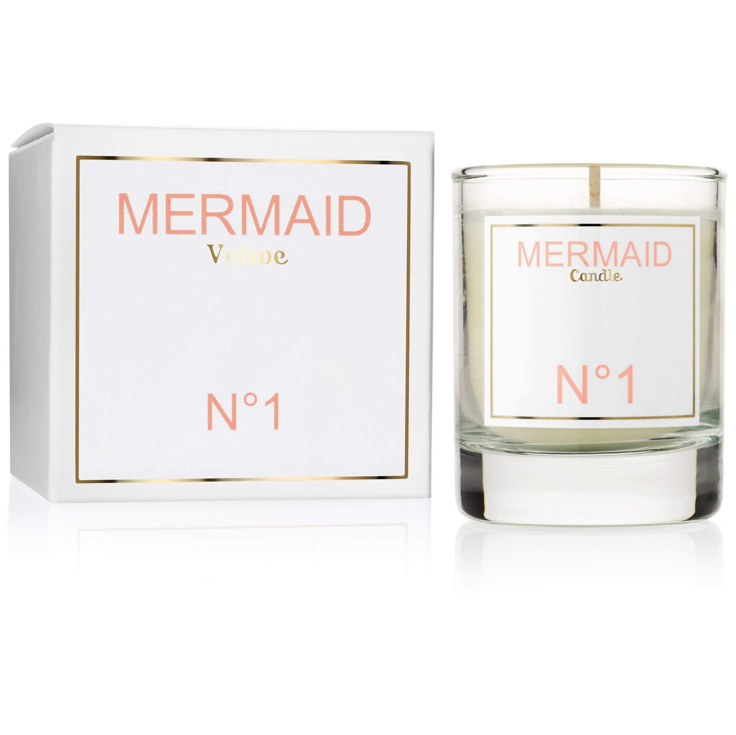 mermaid orange blossom votive candle