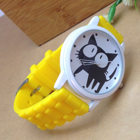 Cute Cat Cartoon Women Watch