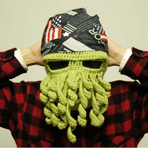 Wool Octopus Winter Mask