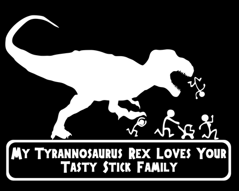 decal Indominus Rex Loves Your Tasty Stick Family