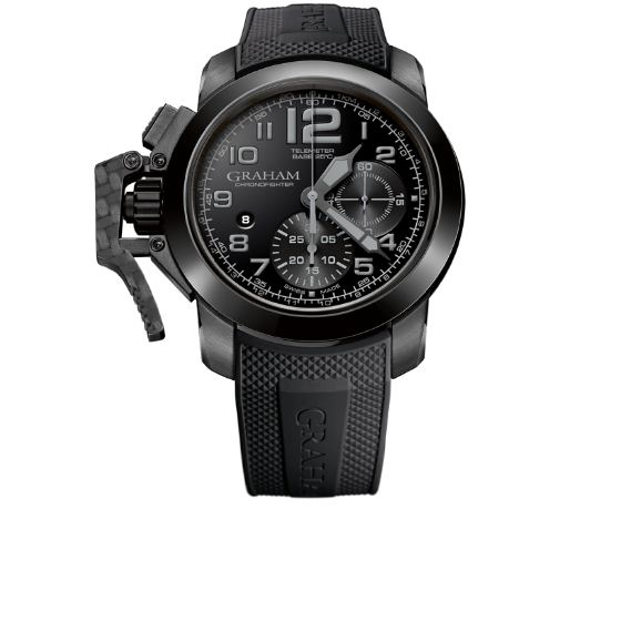 GRAHAM Chronofighter Steel Black and Whiteaa 47MM REF 2CCAU B24A