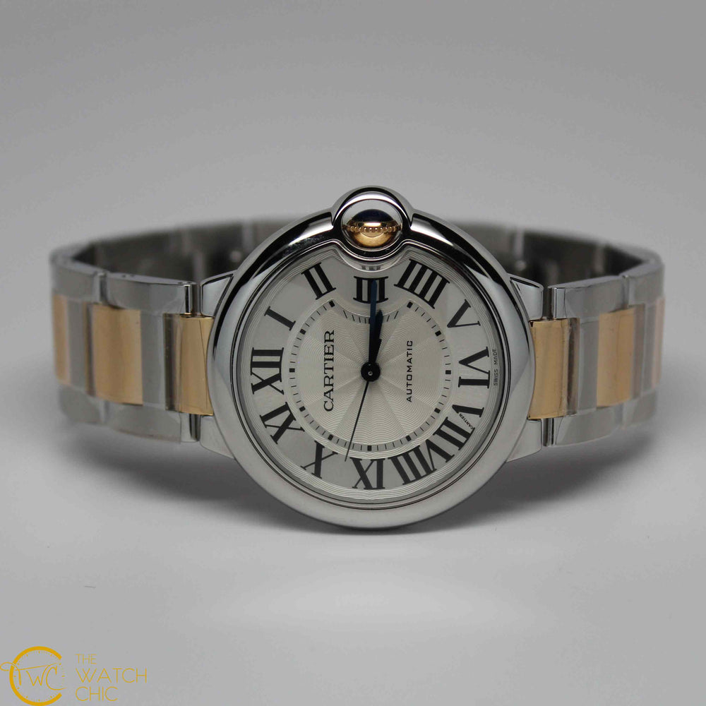Cartier Ballon Bleu Yellow Gold & Stainless Steel 36mm Midsize Automatic W6920047