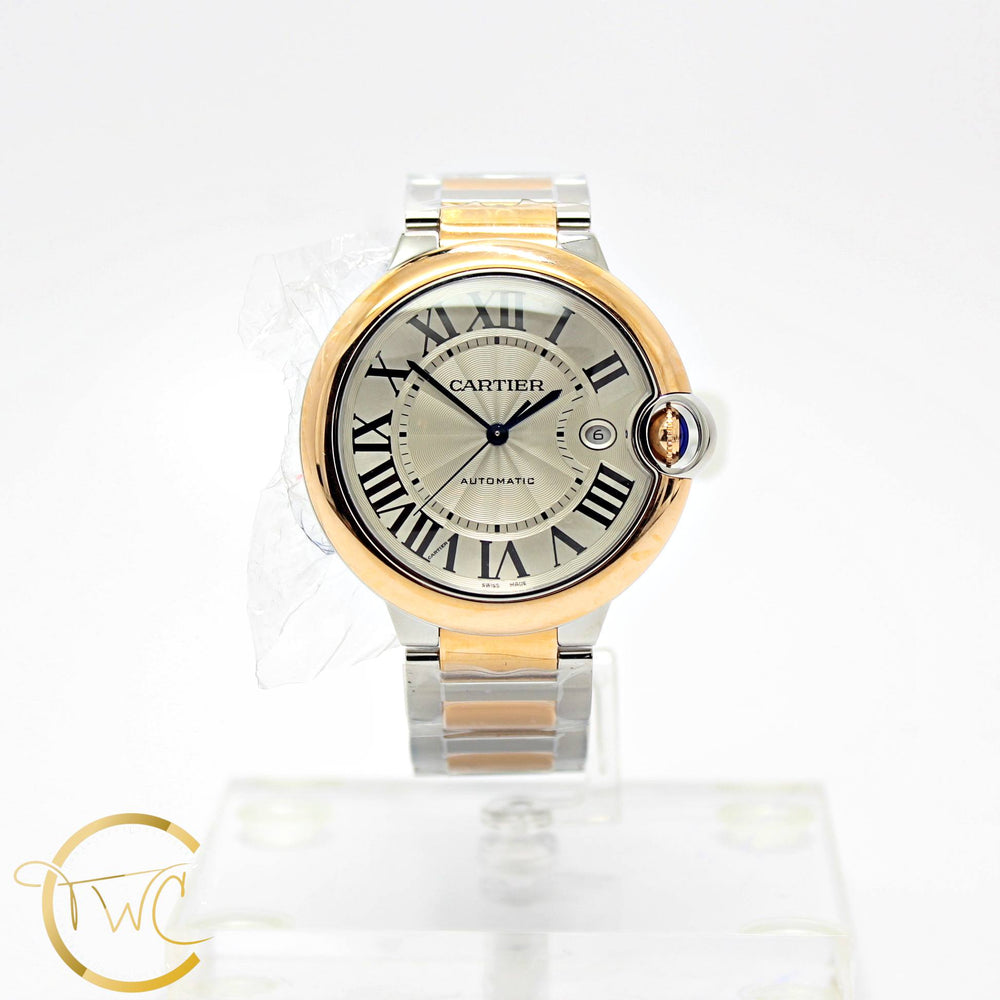 Cartier Ballon Bleu 42MM Steel and 18K Rose Gold Ref W2BB0004