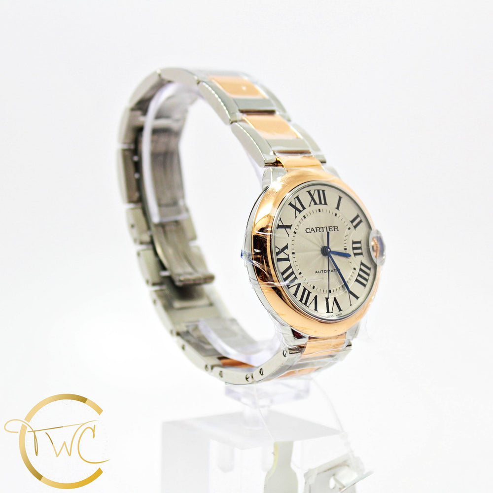 Cartier Ballon Bleu 36MM Stainless Steel 18K Rose Gold Ref W2BB0003